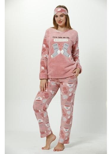 Akbeniz Welsoft Kadın Pijama Takım Vizon